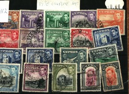 D112 Cyprus 1938 stamps Used - $42.00