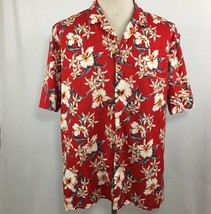 Royal Creations Mens Hawaiian Shirt Size XL Red Welt Pocket Aloha VTG Ma... - $22.72