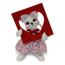 Annalee Dolls 6in 2018 Valentine Picture Perfect Mouse Plush New with Tags - $14.25