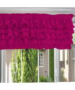 Chiffon HOT PINK Ruffle Layered Window Valance any size  - $29.99+