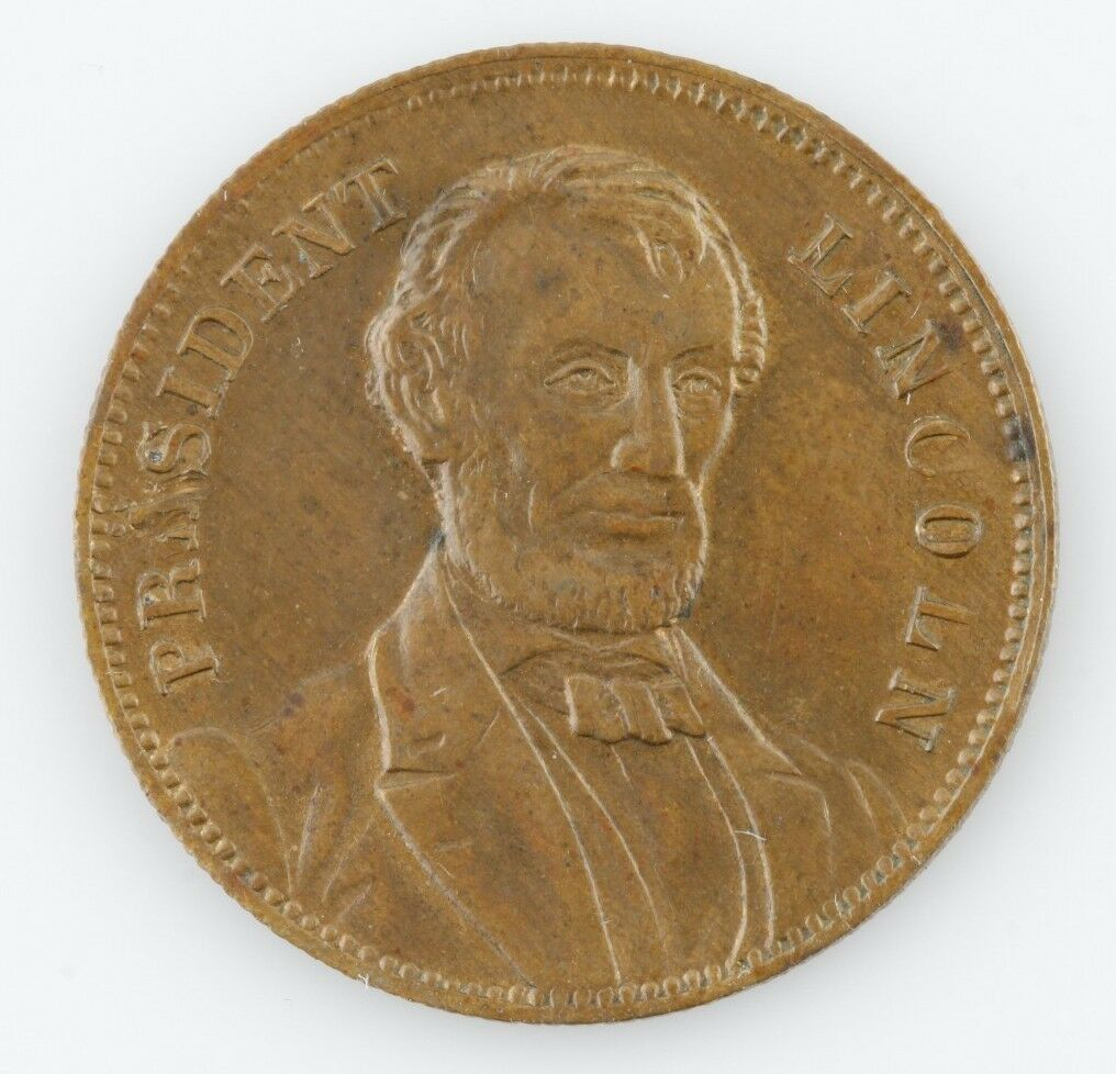 1864 Presidente Lincoln Token Medalla