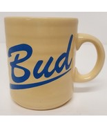 Vintage Bud Coffee Mug Cup Honeycomb Yellow Blue Made in England Buddy F... - $39.59
