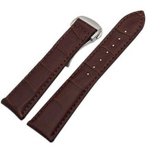 Bracelet FOR Omega Croco pattern Speedmaster Globemaster Olympic band Brown 22mm - $45.00