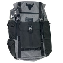 Under Armour Project Rock Bag Gray UA Regiment Backpack Grey Chase Greatness  - $249.95