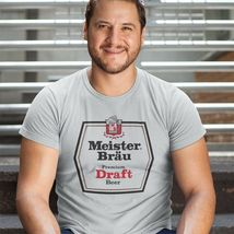 Meister Brau T-shirt classic 1970s beer gray cotton blend retro graphic tee image 3