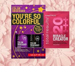 Matrix Total Results Color Obsessed Shampoo Conditioner 10.1 Free Miracl... - $21.49