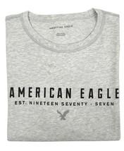 American Eagle Mens Gray Scoop Hem AE 1977 Graphic Tee T-shirt Sz Large ... - $332,06 MXN