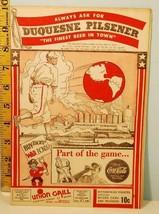 1944 Pittsburgh Pirates Baseball Score Card Cardinals Bucs Win 8-4 Aug. 2 WWII - $39.11