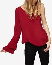 Sanctuary One Shoulder Top Cabernet Burgundy Shirt Size Medium $79 - NWT - $29.69