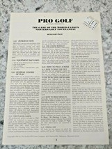 Sports Illustrated Pro Golf  Game RULES OF PLAY BOOK Avalon Hill Augusta Masters - $19.79