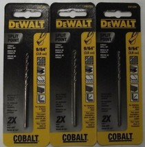 """Dewalt DW1209 9/64"""" Cobalt Split Point Twist Drill Bits 3pcs. - $4.46"""