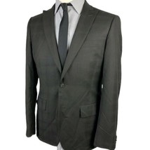 John Varvatos USA Sport Coat 38R Black 2 Button Glen Plaid Jacket Blazer - $39.55