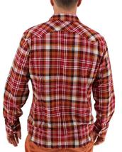 NEW LEVI'S MEN'S CLASSIC LONG SLEEVE BUTTON UP SHIRT PLAID RED 3LYLW0062C image 3