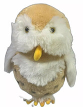 "Rare Sugarloaf Owl 12"" Plush Golden Tan White - $18.33"