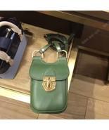 TORY BURCH James Phone Crossbody Bag Womens Leather Mini Shoulder Bag Green - $185.00