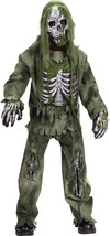 Fun World Skeleton Zombie Horror Undead Child Boys Halloween Costume 5919 - $33.74