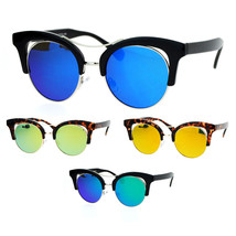 SA106 Diva Color Mirror Double Frame Cat Eye Sunglasses - $12.95