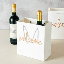 Crisky Welcome Bags Rose Gold Gift Bags for Wedding Hotel Guests, Birthday, Baby image 5