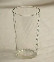 "Swirl Glassware by Brockway Clear Drinking Glass Tumbler 3-7/8"" Tall Vin... - $10.88"