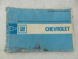 1971 Chevrolet Chevy Owners Manual 15978 - $18.76