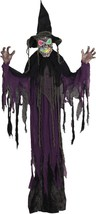 Witch Prop Creepy Hanging Animated Halloween Haunted House SS70926 - £43.08 GBP