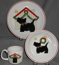Studio Nova Merry Terrier Pattern Christmas - Holiday Three Piece Child's Set - $29.69