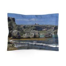 Microfiber Pillow Sham - Unique REMOTE Mona Island - Galapagos of the Ca... - $25.00+