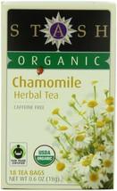 Stash Premium Organic Herbal Tea Caffeine Free Chamomile 6 Pack 18 Tea B... - $14.31