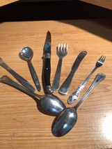 Vintage and Retro Mixed Flatware lot :NORTHLAND STAINLESS,LANSK,STEGOR,O... - $55.43