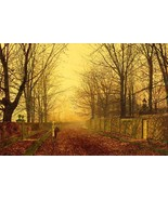 A Golden Idyll Painting by John Atkinson Grimshaw Art Reproduction - $27.99+