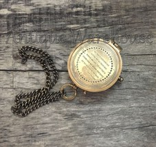 Antique Brass maritime Compass Collectible Vintage Travel Handmade Compa... - $15.97