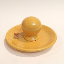 Vintage Fiesta Original Yellow Saucer & Salt / Pepper Shaker HLC Homer L... - $28.70