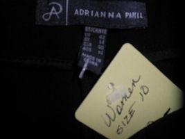 Womens Size 10 Adrianna Papell Lightweight BLACK Dress Pants - No Pockets image 4