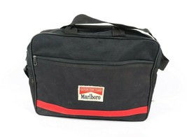 Vintage 90s Marlboro Adventure Team Spell Out Handled Brief Case Bag Bla... - $46.55 CAD