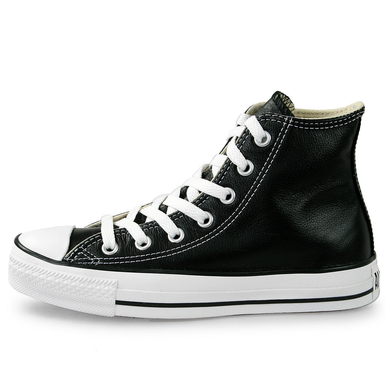 Primary image for Converse Unisex Chuck Taylor All Star HI Leather Shoes NEW AUTHENTIC Black 1S581