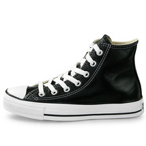 Converse Unisex Chuck Taylor All Star HI Leather Shoes NEW AUTHENTIC Bla... - $49.99