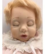 Vintage Hasbro REAL BABY Doll J Turner 1984 Closed Eyes Vinyl Cloth Body... - $34.95