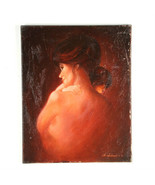 """""""Moonlit Bliss"""" By Anthony Sidoni 1980 Signed Oil on Canvas 20 1/2""""x16"""" - $2,817.42"""