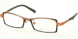 New Prodesign Denmark 1185 6021 Semi Black /ORANGE Eyeglasses Frame 51-17-140mm - $79.19