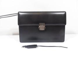 Salvatore Ferragamo Logos Clutch Bag Nero Calf ... - $599.95