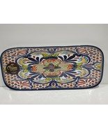 Palm Restaurant Blue Spanish Tile Medallion Melamine Serving Platter 14.... - $24.99