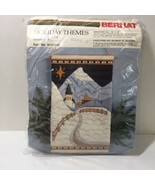 "Christmas Village Needlepoint Kit Bernat 10"" x 18"" Quickstitch - $38.69"