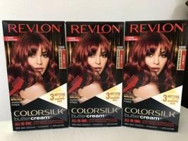3x Boxes REVLON Colorsilk Buttercream Hair Dye 55RR Intense Red Vivid Color - $38.60