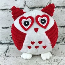 Wish Pets Otis Owl Plush Red White Hearts Valentines Stuffed Animal Soft Toy - $7.91