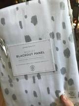 Pottery Barn Kids Set 2 Marley Drape Gray Dot 44x84 Curtain Pair Blackout - $118.31
