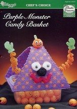 Purple Monster Candy Basket Plastic Canvas PATTERN/INSTRUCTIONS/NEW - $2.67