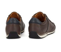 Hugo Boss Men's Premium Sport Leather Sneakers Shoes Saturn Lowp Dark Brown (7) image 2
