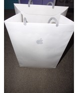 APPLE Store Paper Bag - White with Logo - size 11 1/2 x 8 x 5 - $5.46