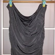 H&M Gray Slinky Ruched Column Dress 12 - $15.00