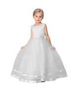 Cute White Party Wear Tulle Gown for Girls - $52.99+